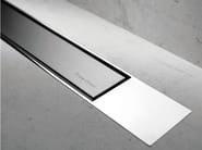 Metal shower channel MODULO DESIGN Z-2 BRUSHED + CHROME - Easy Sanitary Solutions