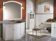 Classic style floor-standing wooden vanity unit with doors with drawers DYANA 02 - Mobiltesino