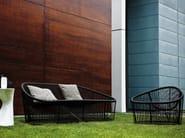 Stainless steel and PVC armchair CLUB 1009 | Armchair - Zanotta