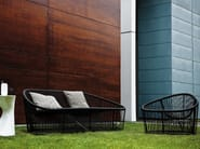 Steel and PVC garden sofa CLUB 1009 | Sofa - Zanotta