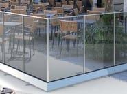 Modular glass Fence B-3004-3006-3008 - Metalglas Bonomi