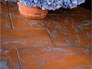 Quarry flooring Red cotto variegated lightblue - DANILO RAMAZZOTTI ITALIAN HOUSE FLOOR