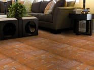 Quarry flooring Red cotto variegated dove gray - DANILO RAMAZZOTTI ITALIAN HOUSE FLOOR