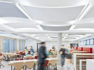 Acoustic ceiling clouds THERMATEX® Sonic arc - Knauf AMF Italia Controsoffitti