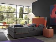 Fabric double bed with high headboard FAIR BIG - WELL - Bolzan Letti
