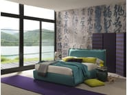 Fabric double bed with upholstered headboard HANDSOME | Double bed - Bolzan Letti