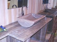 Countertop rectangular natural stone washbasin EPSYLON - DANILO RAMAZZOTTI ITALIAN HOUSE FLOOR