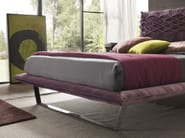 Fabric double bed with upholstered headboard NICE LIGHT - Bolzan Letti