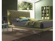 Fabric double bed with upholstered headboard SHEEN LIGHT - Bolzan Letti