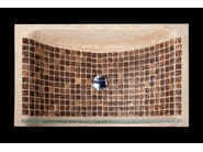 Countertop rectangular natural stone and coconut washbasin BORA BORA | Countertop washbasin - DANILO RAMAZZOTTI ITALIAN HOUSE FLOOR