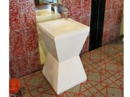 Freestanding natural stone washbasin CLESSIDRA - DANILO RAMAZZOTTI ITALIAN HOUSE FLOOR