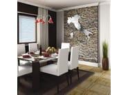 Wall-mounted stainless steel clock ITALIA - Carluccio Design