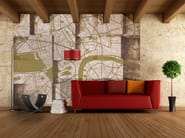 Contemporary style motif adhesive fabric wallpaper LONDON UNDERGROUND - MyCollection.it