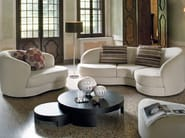 Upholstered 3 seater sofa PIANO - Divanidea
