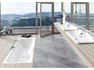 Inset rectangular enamelled steel washbasin SILENIO | Washbasin - Kaldewei Italia