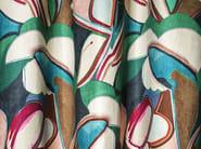 Printed viscose fabric with floral pattern MARGARITAS - Dedar