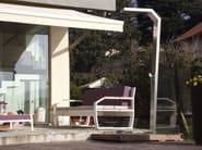 Stainless steel outdoor shower SNAKE - Lgtek Outdoor