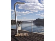 Stainless steel outdoor shower SNAKE - Lgtek Outdoor
