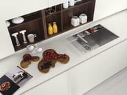 Acacia kitchen with peninsula AXIS 012 | Kitchen with peninsula - Zampieri Cucine