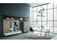 Lacquered oak storage wall FIFTY | Composition 04 - Zampieri Cucine
