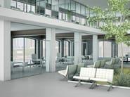 Office partition LIGHT P-050 TP-100 - Metalglas Bonomi