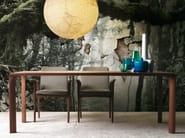 Rectangular walnut dining table SINTESI | Walnut table - LINFA DESIGN