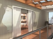 Counter frame for double sliding doors DOUBLE DRIVING - PROTEK®