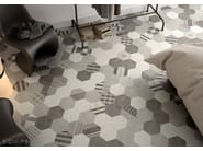 Hexatile Cement White, Grey, Black, Decor GEO Grey 17,5x20