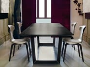 Rectangular solid wood table BOLERO | Rectangular table - Poltrona Frau