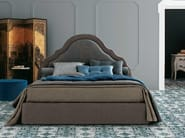 Fabric double bed with removable cover with upholstered headboard CELINE - Twils