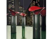 Countertop oval washbasin FLOWER - Glass Design