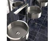 Countertop stainless steel washbasin DE COSTE - Glass Design
