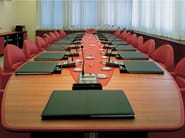 Walnut meeting table CORINTHIA MEETING | Walnut meeting table - Poltrona Frau