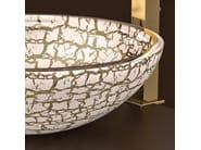 Countertop round glass washbasin KALAHARI Ø 34 - Glass Design