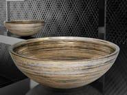 Countertop round glass washbasin GRAFFITI Ø 40 - Glass Design
