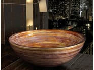Countertop round glass washbasin GRAFFITI Ø 44 - Glass Design