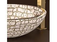 Countertop round glass washbasin KALAHARI Ø 44 - Glass Design