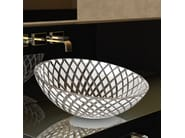 Countertop single glass washbasin XENI - Glass Design