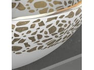 Countertop round glass washbasin FLARE Ø 44 - Glass Design