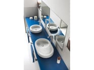 Countertop washbasin ORBITA 63 - ROCA SANITARIO
