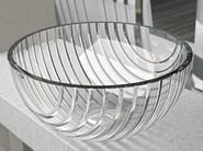Countertop round crystal washbasin MARINUS - Glass Design