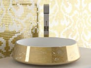 Countertop round washbasin EXTÈ LUX - Glass Design