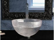 Countertop round crystal washbasin RAMADA - Glass Design
