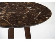 Round marble high side table NINNA | High side table - Adentro