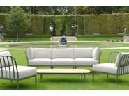 Low teak garden side table CHELSEA | Low coffee table - Tectona
