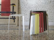 Powder coated aluminium stool / coffee table PALETTE - iCarraro italian makers