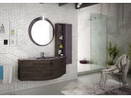 Sectional single wall-mounted vanity unit FREEDOM 02 - LEGNOBAGNO