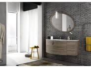 Sectional single wall-mounted vanity unit FREEDOM 01 - LEGNOBAGNO