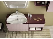 Sectional single wall-mounted vanity unit FREEDOM 11 - LEGNOBAGNO