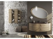 Sectional single wall-mounted vanity unit FREEDOM 05 - LEGNOBAGNO